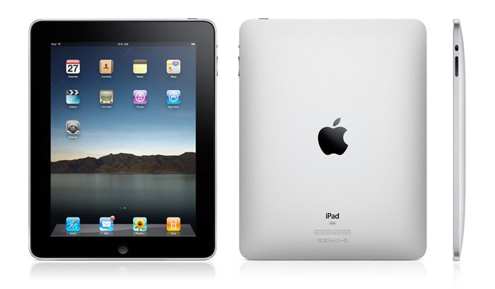 Vyobrazenie Apple iPad: spredu, zozadu, zboku