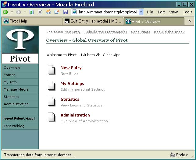 pivot screenshot