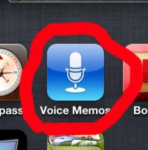 Voice Memos - ikonka aplikácie