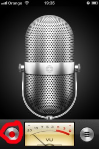 Voice Memos - rozhranie aplikácie