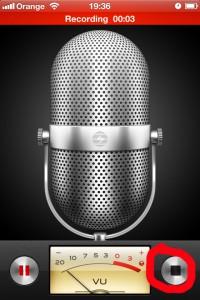 Voice Memos - nahrávanie záznamu