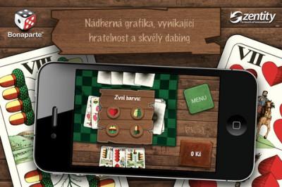 Hra Prší pre iPhone v prázdninovej verzií roku 2012