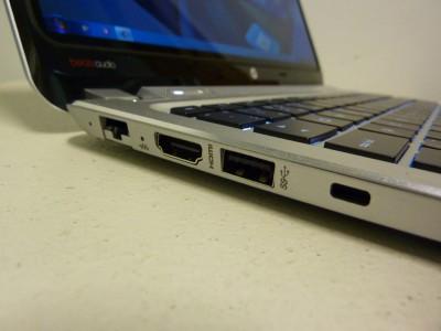 HP SPECTRE XT: ľavá strana s konektormi Ethernetu, HDMI, USB