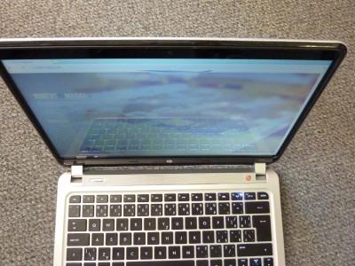 HP SPECTRE XT: display pri pohľade z uhlu zhora už stráca farby