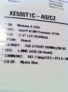 Samsung ATIV SmartPC: parametre z krabice