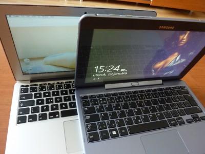 Samsung ATIV SmartPC: otvorené s Macbook Air