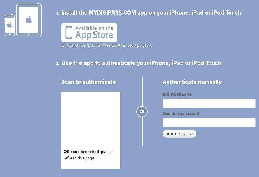 digipass konto heslo web